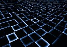 Abstrakt fyrkantig bakgrund för PIXELmosaikblått vektor illustrationer