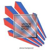 Abstrakt fyrkantig bakgrund med linjer av röd och blå geometrisk stil Arkivbilder