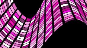 Abstrakt fyrkantig geometrisk modell med vågor Randigt strukturellt Royaltyfri Bild