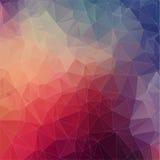Abstrakt fyrkantig polygonal bakgrund Royaltyfri Bild
