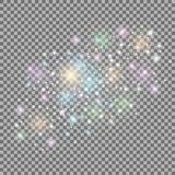 abstrakt galax stock illustrationer