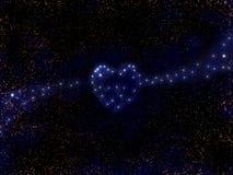 abstrakt galaxhjärta like stjärnor royaltyfri fotografi