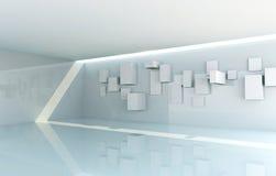 Abstrakt galleriInterior stock illustrationer