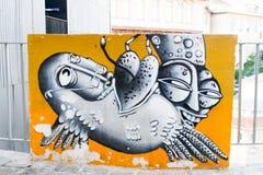 Abstrakt gatakonst Fotografering för Bildbyråer