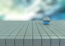 För skysphere för blått abstrakt illustration Royaltyfri Bild