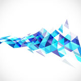 Abstrakt genomskinlig triangel på mall för perspektivkurvsikt royaltyfri illustrationer