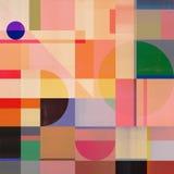 Abstrakt geometrikonstverk N1 vektor illustrationer