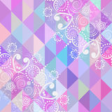 Abstrakt geometrisk bakgrund Arkivfoto