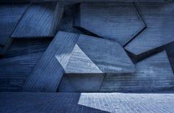 Abstrakt geometrisk bakgrund av betongen Royaltyfri Foto