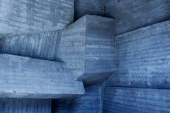 Abstrakt geometrisk bakgrund av betongen Royaltyfria Foton
