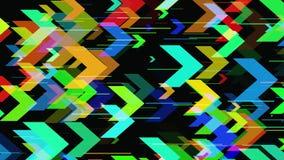 Abstrakt geometrisk bakgrund 3D Geometrisk yttersida i rörelse royaltyfri illustrationer