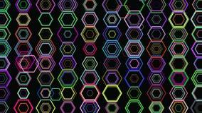 Abstrakt geometrisk bakgrund 3D Geometrisk yttersida i rörelse