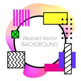 Abstrakt geometrisk bakgrund för vektor Modernt och stilfullt Arkivfoto