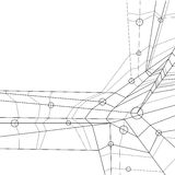 Abstrakt geometrisk bakgrund för vektor, svart a för modern stil Royaltyfria Foton