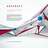 Abstrakt geometrisk bakgrund för vektor, teknisk stilillustrati Arkivbilder