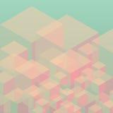 Abstrakt geometrisk bakgrund från kuber Royaltyfri Fotografi
