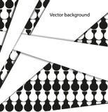 Abstrakt geometrisk bakgrund i svartvitt Royaltyfri Bild