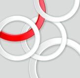 Abstrakt geometrisk bakgrund med cirklar stock illustrationer