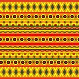 Abstrakt geometrisk bakgrund med den etniska prydnaden Arkivfoto