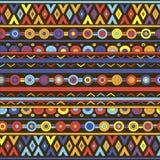 Abstrakt geometrisk bakgrund med den etniska prydnaden Royaltyfri Fotografi