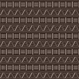 Abstrakt geometrisk bakgrund med den etniska prydnaden Royaltyfri Bild