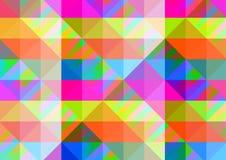 Abstrakt geometrisk bakgrund med färgrika tegelplattor Royaltyfri Fotografi