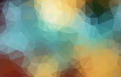 Abstrakt geometrisk bakgrund med polygoner Informationsdiagramsammansättning med geometriska former Retro etikettdesign Royaltyfria Bilder