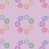Abstrakt geometrisk bakgrund, sju mänskliga chakras, seaml Royaltyfri Foto
