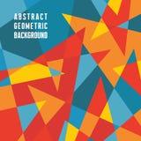 Abstrakt geometrisk bakgrund - vektormodell Trianglar gör sammandrag vektorbakgrund Arkivbilder