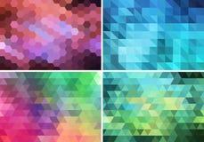 Abstrakt geometrisk bakgrund, vektoruppsättning Arkivfoto