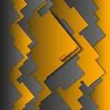 Abstrakt geometrisk bakgrundsapelsin-svart Royaltyfri Fotografi