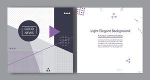 Abstrakt geometrisk bakgrundsdesign Minimalisten utformar Arkivbilder