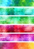 Abstrakt geometrisk banerbakgrund, vektoruppsättning Royaltyfri Foto