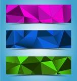 Abstrakt geometrisk banerdesign stock illustrationer
