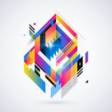 Abstrakt geometrisk beståndsdel Arkivbilder