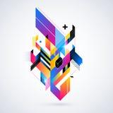 Abstrakt geometrisk beståndsdel Arkivfoto