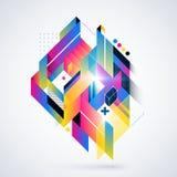 Abstrakt geometrisk beståndsdel Fotografering för Bildbyråer