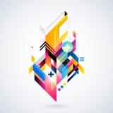 Abstrakt geometrisk beståndsdel Royaltyfri Bild