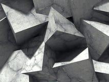 Abstrakt geometrisk betong skära i tärningar kvarterbakgrund royaltyfri illustrationer