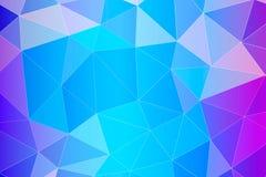 Abstrakt geometrisk blå bakgrund med triangulära polygoner Arkivfoton