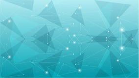 Abstrakt geometrisk blå polygonal bakgrund Arkivbild