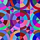 Abstrakt geometrisk cirkelfyrkantmodell Royaltyfri Fotografi