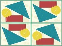 Abstrakt geometrisk datalista vektor illustrationer