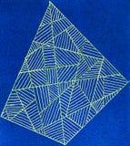 Abstrakt geometrisk design Arkivfoton