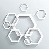 Abstrakt geometrisk design 3D stock illustrationer