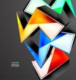 Abstrakt geometrisk design 3D Arkivfoton