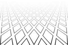 Abstrakt geometrisk diamantmodell minska perspektiv Vit texturerad bakgrund stock illustrationer