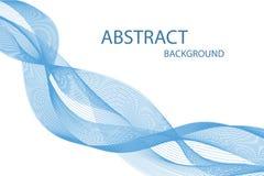 Abstrakt geometrisk dynamisk havsvåg Idérik linje konst royaltyfri illustrationer