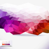 Abstrakt geometrisk färgrik bakgrund Royaltyfri Fotografi
