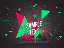 Abstrakt geometrisk färgrik vektorbakgrund Arkivfoton